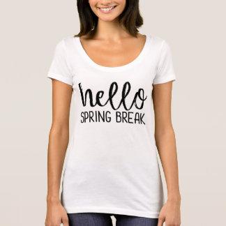 Camiseta T do professor das férias da primavera
