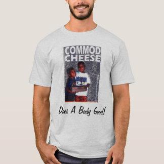 Camiseta T do queijo da mercadoria