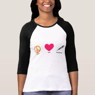 Camiseta T do Raglan da imunização