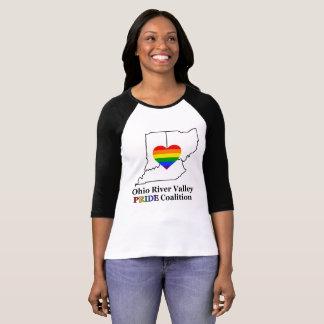 Camiseta T do Raglan das mulheres do orgulho de ORV