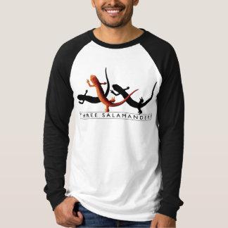Camiseta T do Raglan de três salamandras