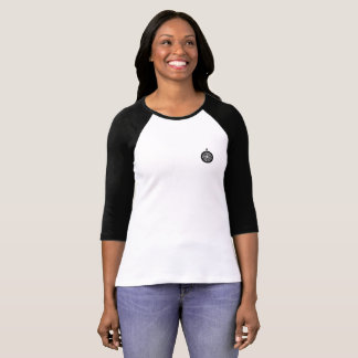 Camiseta T do Raglan do emblema do navegador