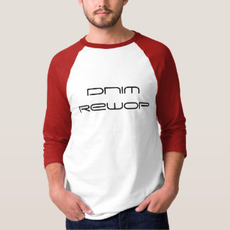 Camiseta T do Raglan do poder 3/4 da mente