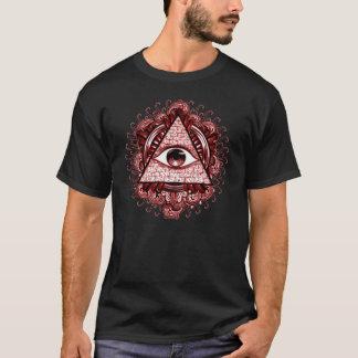 Camiseta T do símbolo de Illuminati