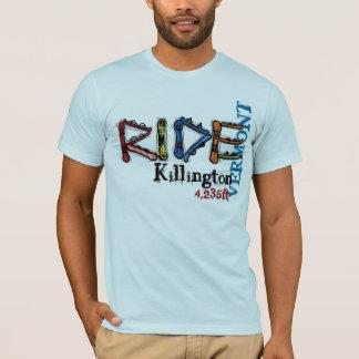 Camiseta T do snowboard da elevação de Killington Vermont