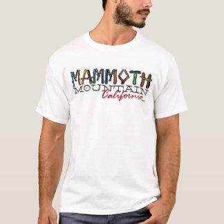 Camiseta T do snowboard das caras de Mammoth Mountain