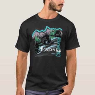 Camiseta T do snowboarder das caras de Breckenridge