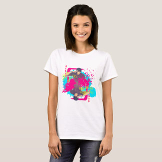 Camiseta T do Splatter da pintura de Qeuyl