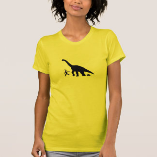 Camiseta T do tombadilho do dinossauro