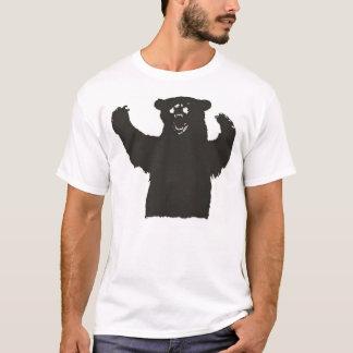 Camiseta T do urso preto