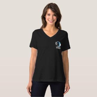 Camiseta T do V-Pescoço do Relaxed-Ajustado do logotipo da