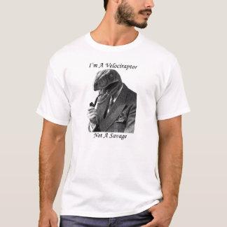 Camiseta T do velociraptor! eu não sou um bom senhor