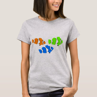 Camiseta T do verão das mulheres dos peixes do palhaço