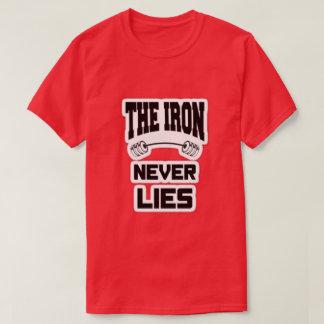 Camiseta T do vermelho do FERRO