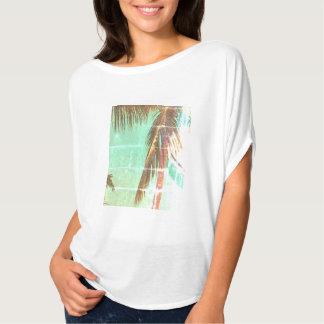 Camiseta T do vintage da palmeira