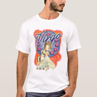 Camiseta T do Virgo das meninas com unicórnio e a fêmea