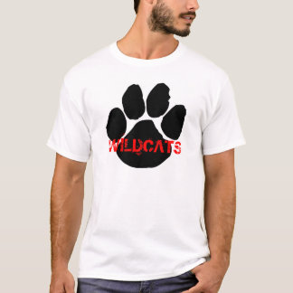 Camiseta T do Wildcat dos homens