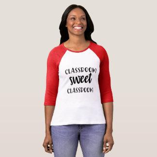 Camiseta T doce da sala de aula da sala de aula
