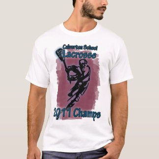 Camiseta T dos campeões do Lacrosse da escola de Calverton