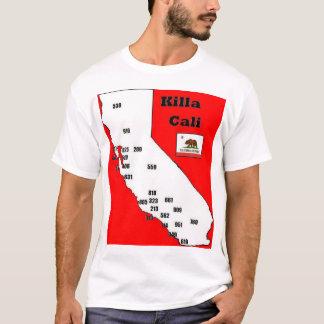 Camiseta T dos códigos de área de Califórnia