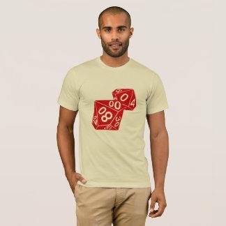 Camiseta T dos dados do percentil de Rainwall d10