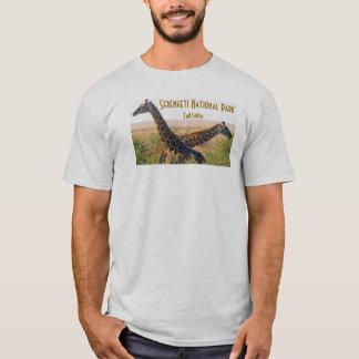 Camiseta T dos girafas