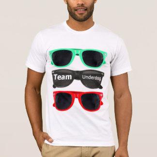 Camiseta T dos sunglass da equipa fraca da equipe - branco