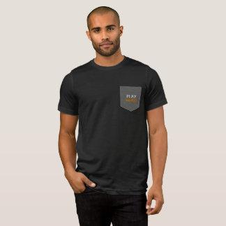 Camiseta T duro do bolso do jogo