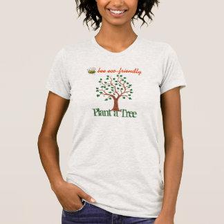 Camiseta T Eco-amigável da abelha - plante uma árvore -