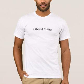 Camiseta T elitista liberal da etiqueta