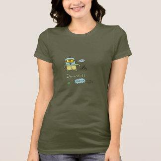 Camiseta T em declive do monstro das meninas de DTV