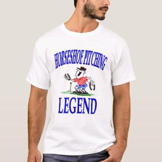 Camiseta T em ferradura básico da legenda do lançamento