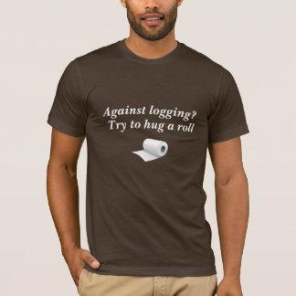 Camiseta (T engraçado) contra o registo?