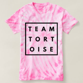 Camiseta T engraçado da tintura do laço da tartaruga da