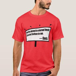 Camiseta T engraçado do quadro de avisos dos pedaços