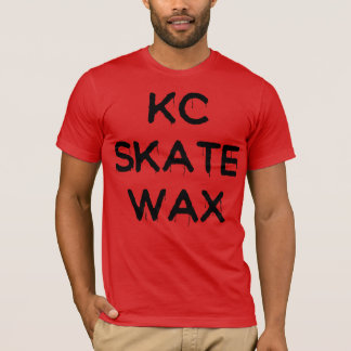 Camiseta T escorregadiço da cera do skate do kc