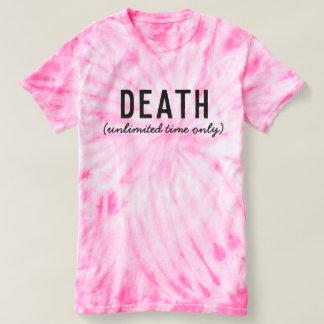 Camiseta T escuro irónico do humor da morte (tempo