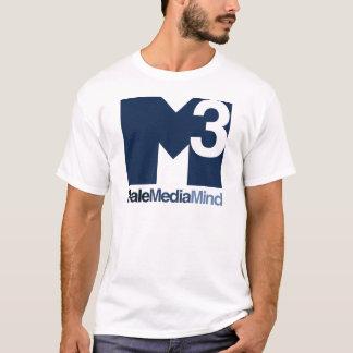 Camiseta T (escuro) principal do logotipo da mente