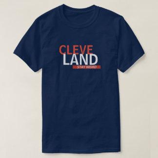 Camiseta T estranho da estada de Cleveland