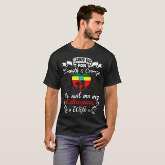 Camiseta T etíope enviado coragem pedido da esposa da força