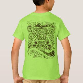 Camiseta T exótico oficial dos meninos da ilha de Tiki