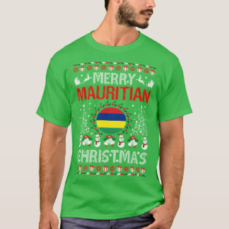 Camiseta T feio da camisola do Natal maurício alegre do