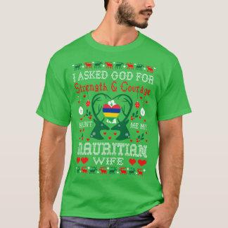 Camiseta T feio enviado deus da camisola do Natal maurício
