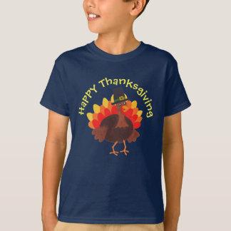 """Camiseta """"T feliz da acção de graças feliz"""" de Turquia -"""