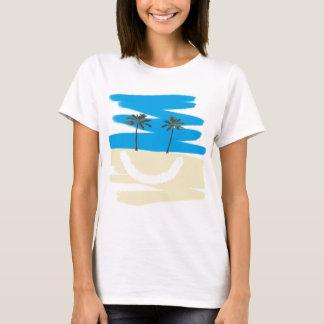 Camiseta T feliz da praia