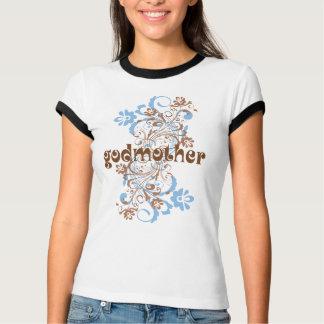 Camiseta T florescido madrinha do presente do redemoinho
