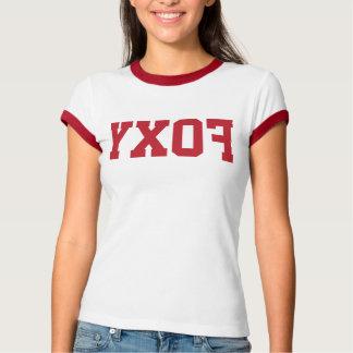 """Camiseta T """"Foxy"""" reverso engraçado da campainha das"""