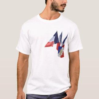 Camiseta T francês da bandeira