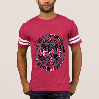 Camiseta T geométrico do gráfico do impressão do Scribble