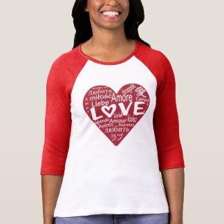 Camiseta T gráfico do AMOR em todo o mundo